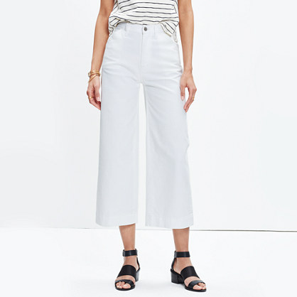 MADEWELL CROP WIDE LEG